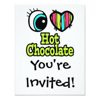 """Chocolate caliente del ojo del amor brillante del invitación 4.25"""" x 5.5"""""""