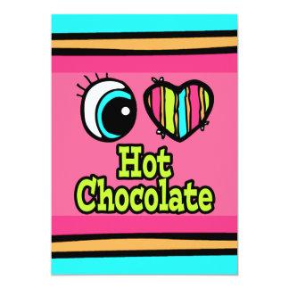 """Chocolate caliente del ojo del amor brillante del invitación 5"""" x 7"""""""
