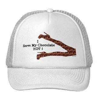 Chocolate caliente divertido femenino elegante/Cas Gorros Bordados