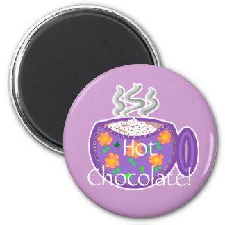¡Chocolate caliente! Imanes Para Frigoríficos