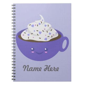 Chocolate caliente lindo spiral notebooks