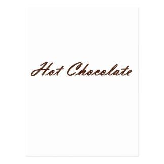 Chocolate caliente postales