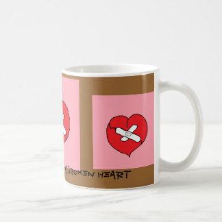 Chocolate can mend a broken heart classic white coffee mug
