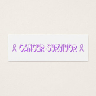 Chocolate Cancer Survivor Mini Business Card