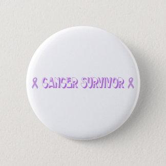 Chocolate Cancer Survivor Pinback Button
