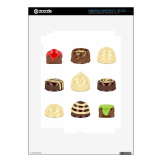 Chocolate candies iPad 3 decal