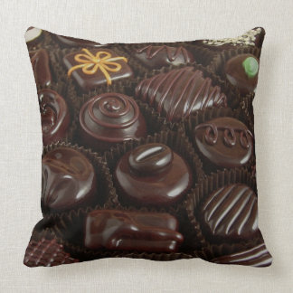Chocolate Candies on Throw Pillow