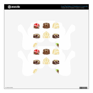 Chocolate candies PS3 controller decals