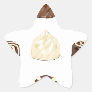 Chocolate candies star sticker
