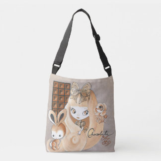 Chocolate Candy And Bunny And Girl Crossbody Bag