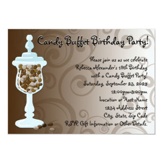 Chocolate Candy Buffet Bar, Urn of Sweets Card