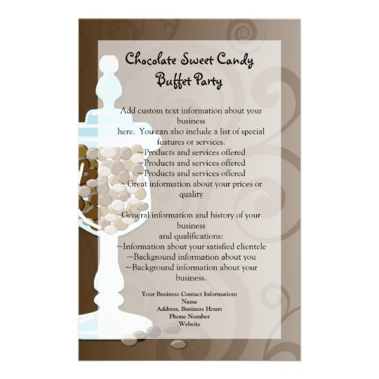 Chocolate Candy Buffet Bar, Urn of Sweets Flyer