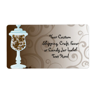Chocolate Candy Buffet Bar, Urn of Sweets Label