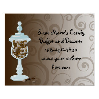 Chocolate Candy Buffet Bar, Urn of Sweets Posters