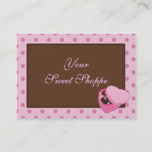Chocolate candy business cards templates zazzle chocolate candy business cards colourmoves