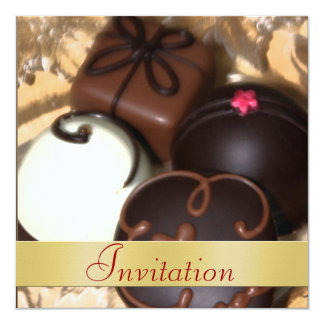 Chocolate Candy Christmas Holiday Invitation