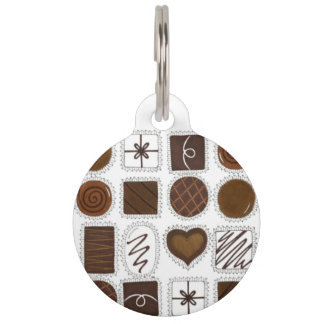Chocolate Candy Cocoa Foodie Sweet Pet Dog Tag