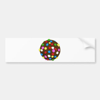 Chocolate Candy Color Ball Bumper Sticker