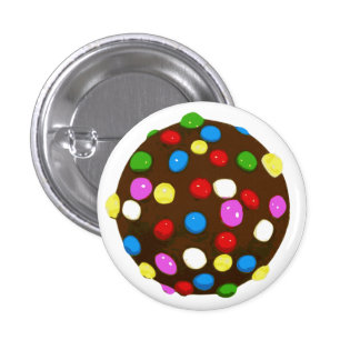 Chocolate Candy Color Ball 1 Inch Round Button