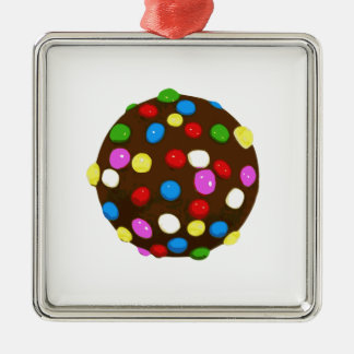 Chocolate Candy Color Ball Metal Ornament