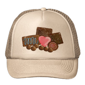 Chocolate  Candy Confections Trucker Hats