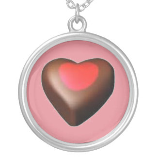CHOCOLATE CANDY HEART NECKLACE