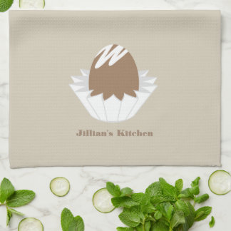 Chocolate Candy Personalized Kitchen Towel