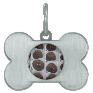 Chocolate Candy Pet Name Tag