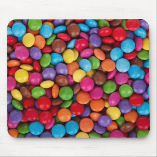 Chocolate candy rainbow color mouse pad