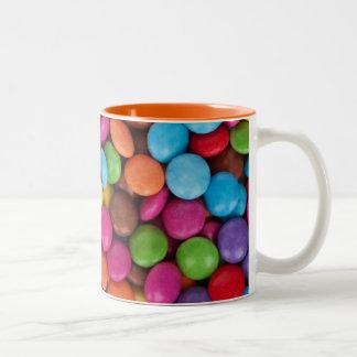 Chocolate candy rainbow color Two-Tone coffee mug