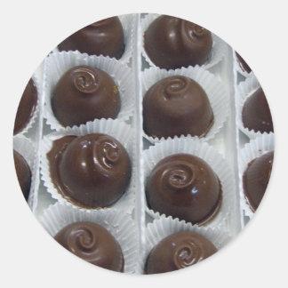 Chocolate Candy Round Sticker