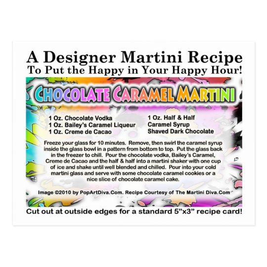 Chocolate Caramel Martini Recipe Postcard
