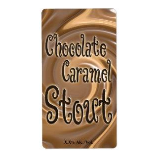 Chocolate Caramel Stout Shipping Label