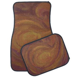 Chocolate Carmel Swirl Car Floor Mat