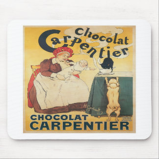 Chocolate Carpentier Vintage Hot Chocolate Ad Art Mouse Pads