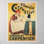Chocolate Carpentier Vintage Hot Chocolate Ad Art Print