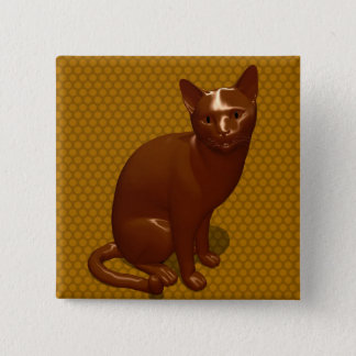Chocolate Cat Pinback Button