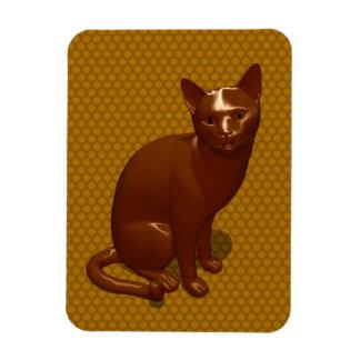 Chocolate Cat Vinyl Magnets