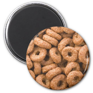 Chocolate cereal rings 2 inch round magnet
