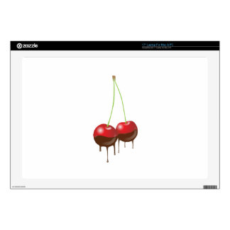 "Chocolate cherries decal for 17"" laptop 17"" laptop skins"