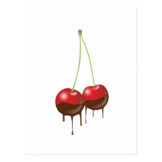 Chocolate cherries postcard
