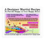 Chocolate Cherry Cordial Martini Recipe Postcard