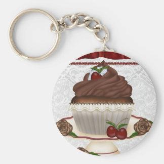 Chocolate Cherry Cupcake Keychain