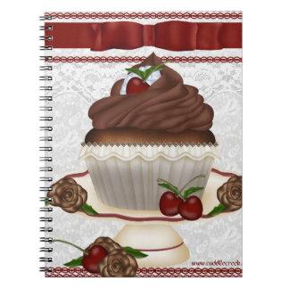 Chocolate Cherry Cupcake Notebook