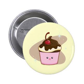 Chocolate Cherry Cupcake Pinback Button