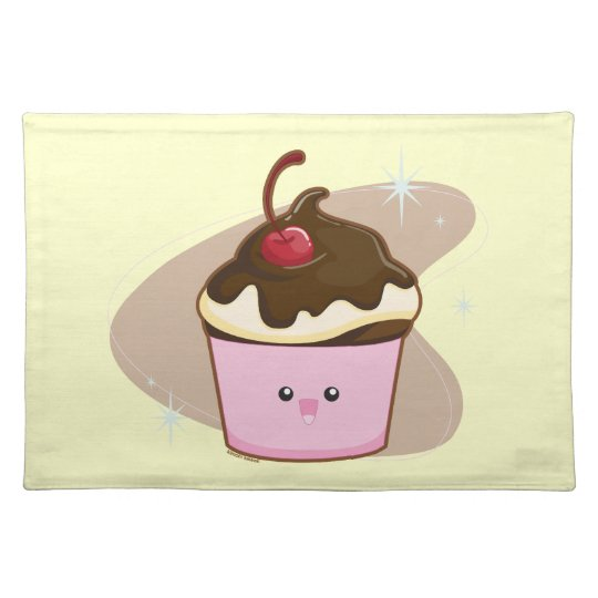 Chocolate Cherry Cupcake Placemat