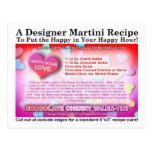 Chocolate Cherry Valentine Martini Recipe Postcard