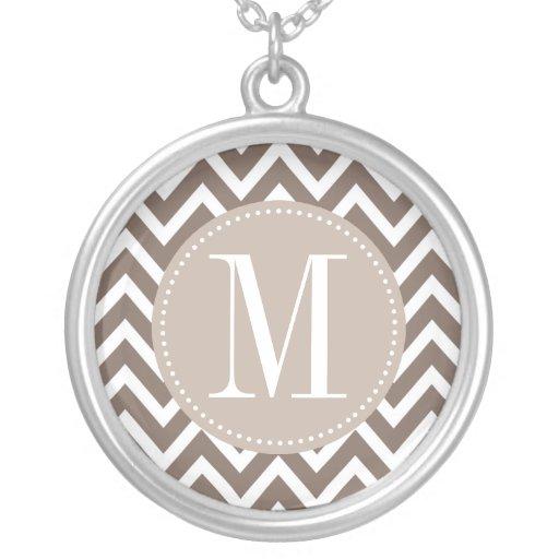 Chocolate Chevron Custom Monogram Custom Jewelry