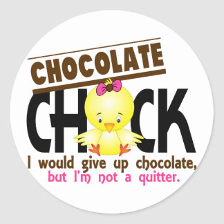 Chocolate Chick 1 Classic Round Sticker