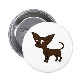 Chocolate Chihuahua Pinback Button